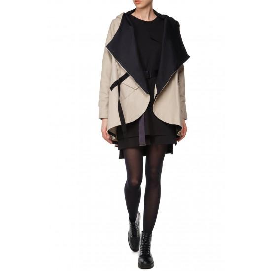 Дамско палто с тюл