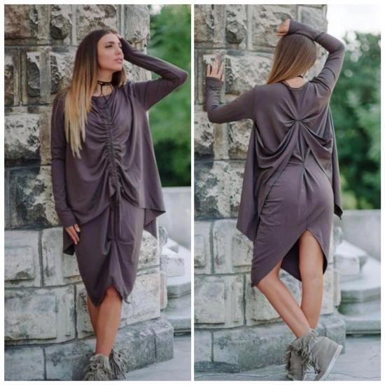 Асиметрична рокля с набор